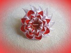 Цветы из лент своими руками, канзаши, МК - YouTube