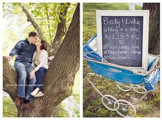love as an announcement or maternity picture
