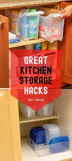 Customize your kitchen cabinets with storage and organization that suits your needs and lifestyle. Kitchen Storage Hacks, Kitchen Hacks, Kitchen Organization, Storage Ideas, Kitchen Ideas, Cheap Diy Home Decor, Diy Kitchen Decor, Diy Ideas, Decor Ideas