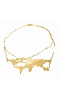 World Links Necklace Yellow