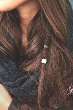 single dread with beads…maybe a couple more dreads. Would be cool once my hair… single dread with beads…maybe a couple more dreads. Would be cool once my hair gets long Messy Hairstyles, Pretty Hairstyles, Partial Dreads, Half Dreads, Mode Hippie, Hair Beads, Dread Beads, Hair With Beads, Dreadlock Beads