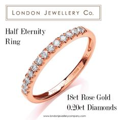 18ct Rose #Gold Half #Eternity Featuring 0.20ct #Diamonds - #London #Jewellery Company
