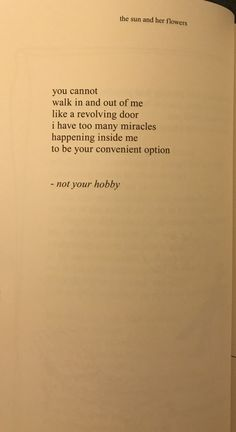 Rupi Kaur The Sun and Her Flowers- not your hobby