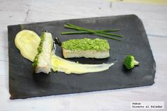 Cod with a crust of broccoli. Health Images, Fish Recipes, Avocado Toast, Food Styling, Poultry, Asparagus, Gluten Free, Vegetables, Healthy