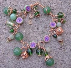 Hypnotize Wire Wrapped Charm Bracelet by CinnamonLotus on Etsy, $22.00
