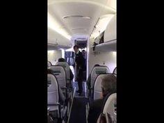 'Funky flight attendant' entertains passengers before takeoff | fox8.com