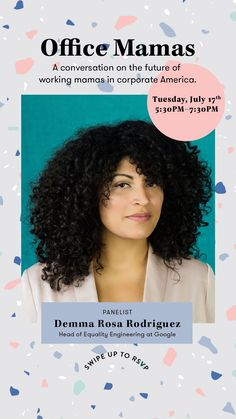 We're so excited for our incredible line up of speakers at our #OfficeMamas event with #Google and #Birchbox on July 17th! Click through to save your spot.