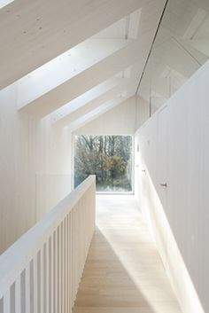 Windows A landing is brought to life with a VELUX Sunlighthouse. Via VELUX AmericaA landing is brought to life with a VELUX Sunlighthouse. Via VELUX America