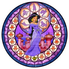 Princess Jasmine - Kingdom Hearts Stain Glass by ~reginaac57 on deviantART