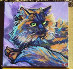 12 x 12 inch acrylic on canvas custom pet art