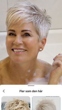 Short White Hair, Short Blonde Pixie, Silver White Hair, Short Choppy Hair, Super Short Hair, Short Hair With Layers, Short Hair Cuts For Women, Short Hair Styles, Short Sassy Haircuts