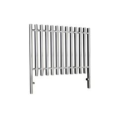 Venture designer radiator 800H x 998W in Chrome with an output of 2744 Btu/hr.
