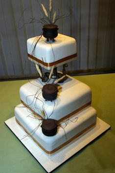 By Ann Carstens African Traditional Wedding Dress, Traditional Wedding Decor, Traditional Cakes, Themed Wedding Cakes, Cool Wedding Cakes, Wedding Cake Designs, African Wedding Cakes, African Wedding Theme, African Cake