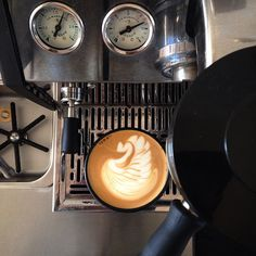At home - training swans.  #latteart #freepour #freepourart #flatwhite #specialtycoffee #Warrnambool #warrnamboolcafe #warrnamboolcoffee #roughdiamond #gs3 #lamarzocco #lamarzoccogs3 #coffee #coffeeathome by rough_diamond_coffee