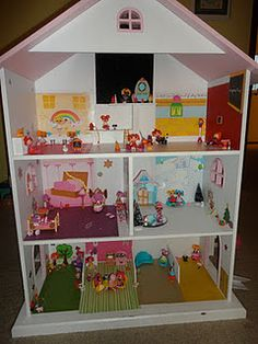 I Made This Dollhouse For My Daughters Lalaloopsy Dolls Using Paper From  The Sticker Books,