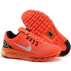 detailed look 14f44 dbf0d Nike Air Max 2013 Orange Black Mens Shoes Air Max Sneakers, Nike Sneakers,  Orange