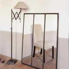 miroir indus en m tal l 180 cm cargo verri re maisons du monde atelier bureau pinterest. Black Bedroom Furniture Sets. Home Design Ideas