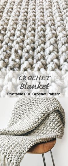 Crochet blanket pattern - crochet afghan pattern - crochet throw pattern - A Crafty Life #crochet #crochetpattern Modern Crochet Blanket, Crochet Throw Pattern, Striped Crochet Blanket, Crochet For Beginners Blanket, Afghan Crochet Patterns, Crochet Yarn, Crochet Flowers, Crochet Throws, Crochet Afghans