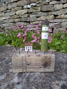 Mini Houses, Wooden Houses, Lighthouse, Bottle Opener, Upcycle, Miniatures, Bird, Photo And Video, Outdoor Decor