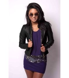 Black leather bomber jacket. I miss my bomber jacket. Cute outfit