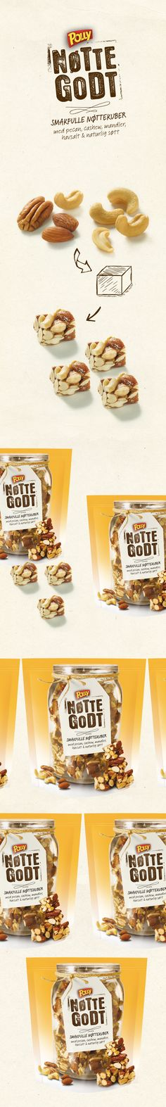 Packaging and identity for Nøttegodt by Polly. on Behance