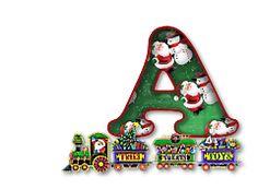 Alfabeto el trencito de Santa.
