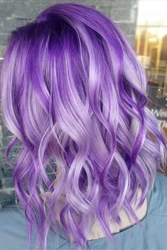 Pale Light Purple Highlights #purplehighlights #highlights #haircolor #wavyhair #mediumhair ❤️See what a deep and bright look you can get with purple highlights! Purple balayage, blue ombre, and many cool hair color ideas are here! ❤️ See more: http://lovehairstyles.com/purple-highlights-unique-hair-look/ #lovehairstyles #hair #hairstyles #haircuts