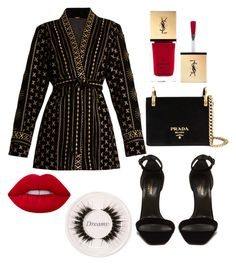 """""""Untitled #34"""" by deniaparham on Polyvore featuring Dodo Bar Or, Yves Saint Laurent, Lime Crime, Prada and Certifeye"""