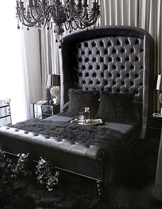 I would have pink mixed in but this black bed is perfect.