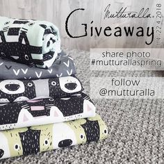 """637 Likes, 759 Comments - Annika Nykänen (@mutturalla) on Instagram: """"One lucky winner will get all these five fabrics. The raffle starts now, and lasts until April…"""""""
