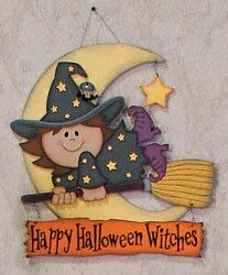 Cute woodcraft witch for Halloween