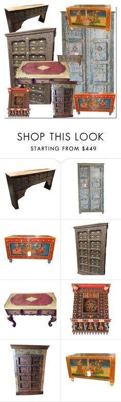 Antique Rustic Furniture to decor by era-chandok on Polyvore featuring interior, interiors, interior design, home, home decor, interior decorating, rustic, furniture, homedecor and antiquefurniture