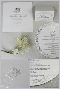 #white #silver #folia #letterpress #bialy #srebrny #monogram #projekt #indywidualny