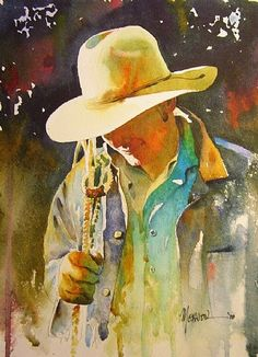 "art Randy Meador | New Blue Shirt"" by Randy Meador Watercolor ~Beautiful lighting"
