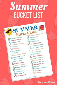 I'm looking forward to checking off ALL the items on this summer bucket list this year with the kids!