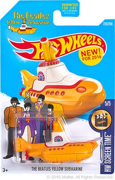 Hot Wheels Beatles Yellow Submarine 2016 release