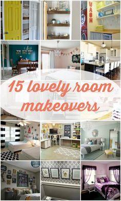 15 Lovely Room Makeovers via Remodelaholic.com #DIY #makeover #rooms