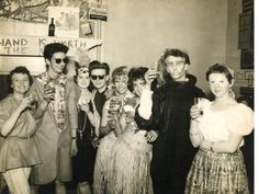 An original photograph of Stuart Sutcliffe at a Carnival party Liverpool College of Art, 1957 Stuart at Carnival party 20 x 25 cm. Stuart on beach 18 x 11 cm. Stuart Sutcliffe, Continuing Education, George Harrison, My Character, Great Bands, Paul Mccartney, John Lennon, The Beatles, Liverpool
