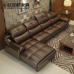 brown leather sofa set, contemporary leather sofa,elegant leather sofa set designs,Modern l shape corner sofa Foshan Sofa Set Designs, Modern Sofa Designs, Modern Design, Contemporary Leather Sofa, Contemporary Furniture, Corner Sofa Set, Couch Set, Furniture Sofa Set, Furniture Design