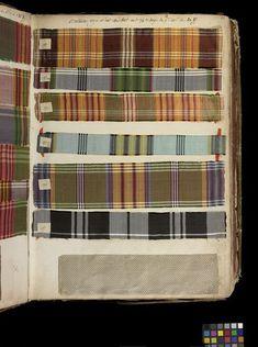 ca. 1763-1764.  Swatch book. Lyon, France. Silk.