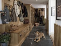 Boot Room Design & Boot Room Furniture by Thomas Ford & Sons Surrey UK Boot room ideas Bespoke Kitchens, Luxury Kitchens, Boot Room Utility, Mudroom Laundry Room, Dog Rooms, Living Room Designs, Ideal Home, Modern, Interior Design