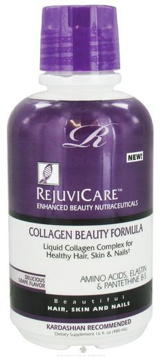 RejuviCare Collagen Beauty Formula Grape: (collagen, skin care, supplements, grow hair, hair vitamins, hair care, hair growth, joint supplements, black hair growth, acne) RECOMMENDED