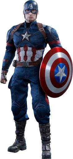 Captain America Civil War: Captain America figure by Hot Toys