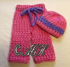 Ravelry: Daisy Baby Pants and Hat pattern by ag handmades