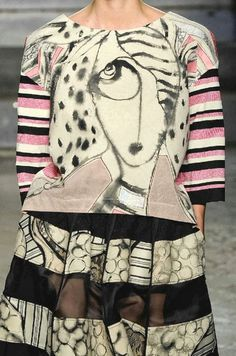 patternprints journal: PRINTS, PATTERNS AND DETAILS FROM S/S 14 WOMENSWEAR COLLECTIONS, MILAN FASHION WEEK / 1