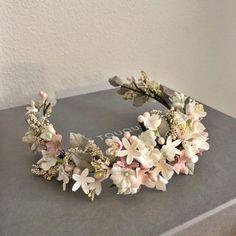 Diy Hair Accessories, Bridal Accessories, Bridal Crown, Bridal Hair, Flower Crown Hairstyle, Couture Embroidery, Floral Headpiece, Wedding Hair Pieces, Wedding Veils