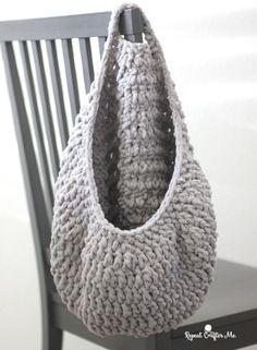 Crochet basket 297448750386551002 - Crochet Hanging Sack Basket – Repeat Crafter Me Source by Knit Or Crochet, Crochet Crafts, Crochet Projects, Free Crochet, Blanket Yarn, Baby Blanket Crochet, Crochet Baby, Crochet Unicorn Pattern Free, Crochet Basket Pattern