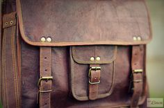 Leather Messenger Bag / Air Plane Cabin Bag / Briefcase / Cross Body Bag / Handbag / Satchel / iPad / Hip Bag / Shoulder Bag