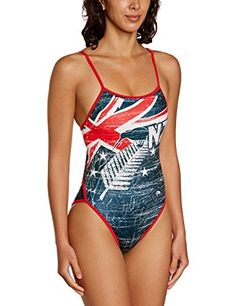 Turbo New Zealand Vintage Maillot fines bretelles Femme Multicolore FR : S (Taille Fabricant : S)