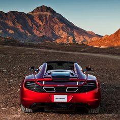 McLaren 12C Spider in awe inspiring surroundings